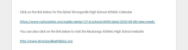 STRONGSVILLE HIGH SCHOOL ATHLETIC SCHEDULE WEEK OF JANUARY 11-JANUARY 15, 2021 Currently, all...