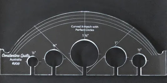 Curved X-Hatch – Perfect circles ruler