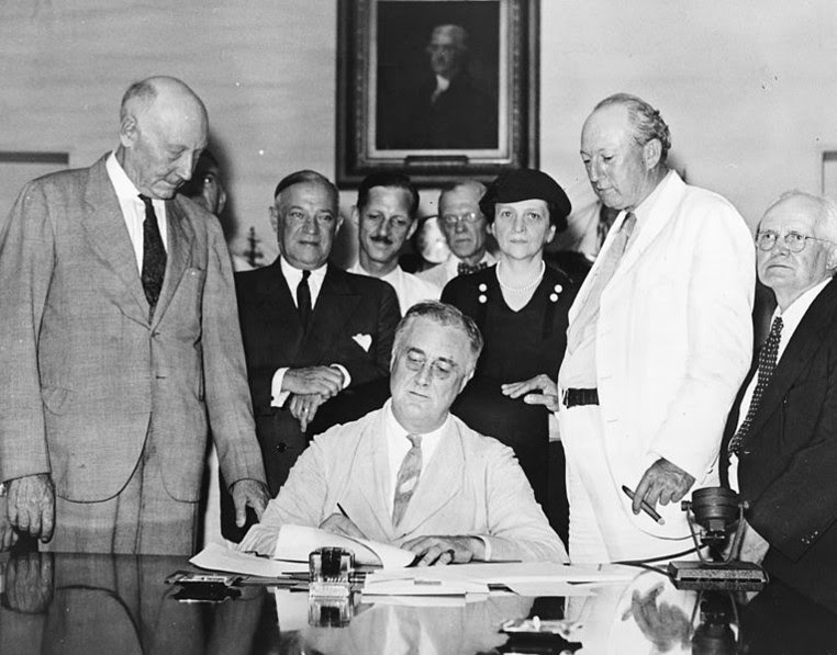 FDR Signs Title V Legislation