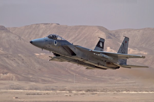 Israeli Air Force F-16b fighter jet (illustrative)