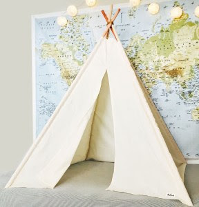 Small cream teepee
