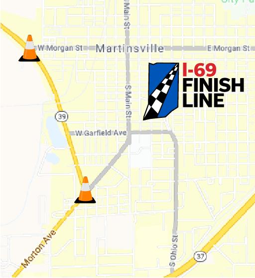 SR 39 median removal map