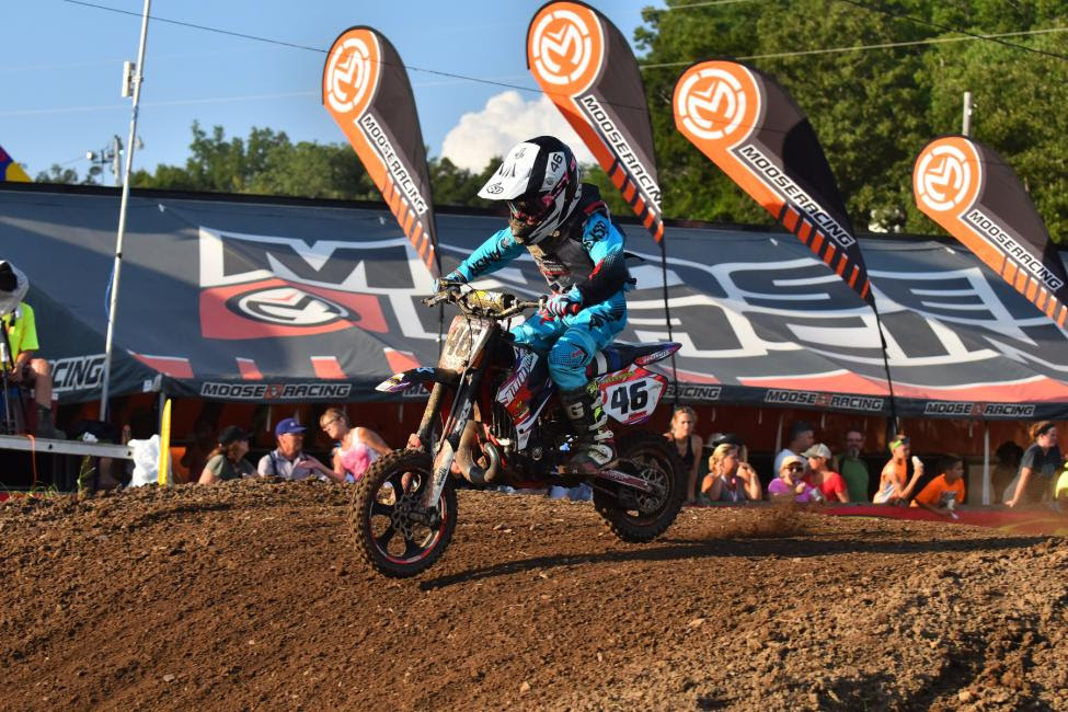 Luke Fauser topped the 51cc (7-8) Limited class.Photo: Ken Hill