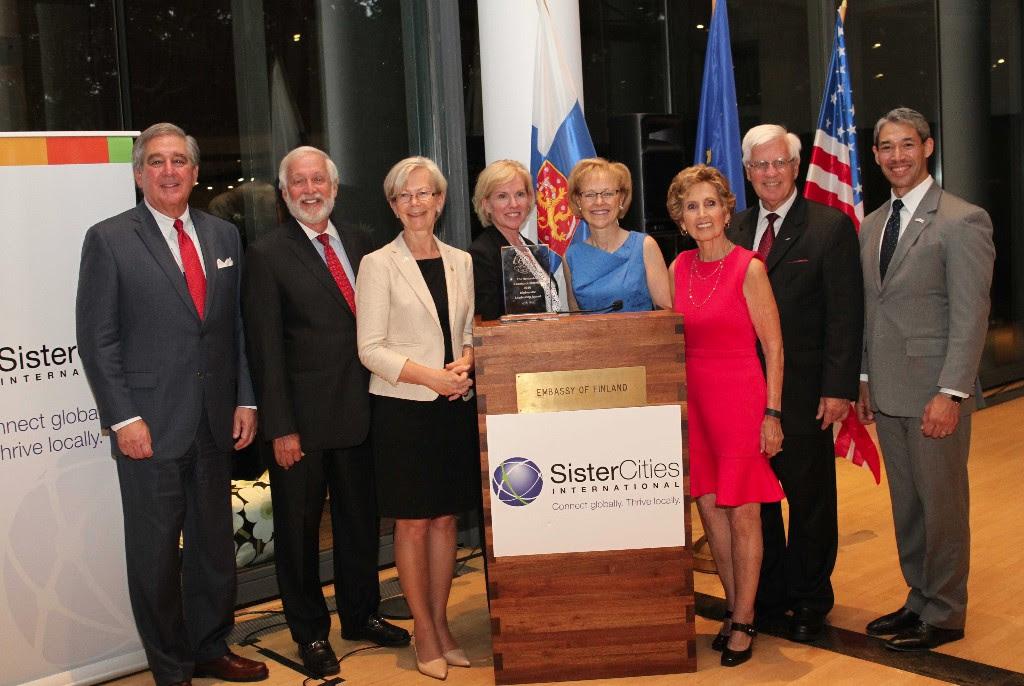 Jerry Abramson, Timothy Chorba, Ambassador Kauppi, Mary Kane, Ambassador Aldona Wos, Connie Morella, Tim Quigley, Ron Nirenberg