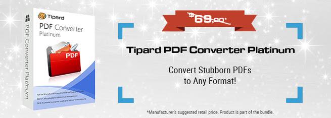 Tipard PDF Converter Platinum SE Giveaway
