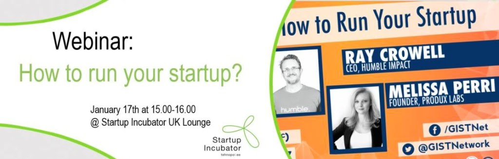 "Webinar ""How to Run Your Startup"""