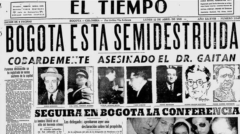 Así reflejó la prensa el asesinato de Eliércer Gaitán.