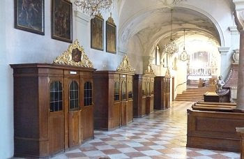 confession booths