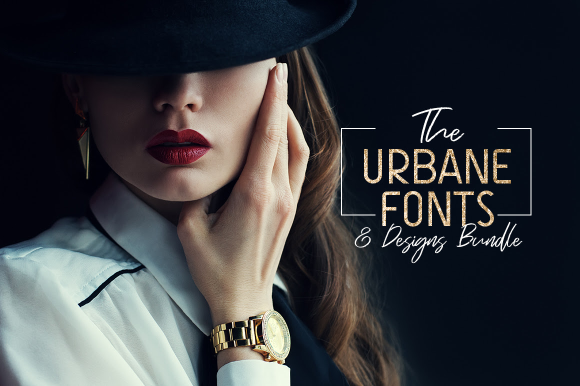 The Urbane Fonts and Designs Bundle – 99 Fonts & 1000+ Designs