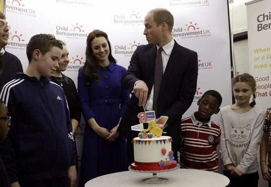Duke and Duchess of Cambridge visit Child Bereavement UK Centre