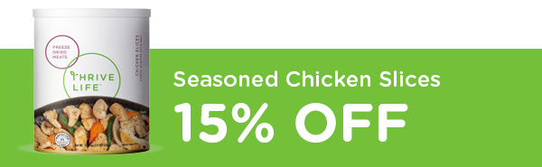 Seasoned Chicken Slices 15% Off