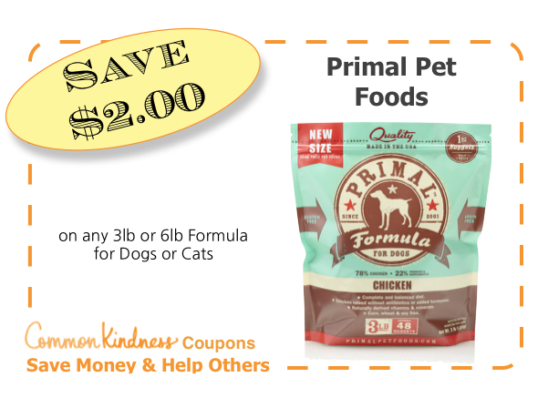 Primal Pet Food CommonKindness coupon - Target