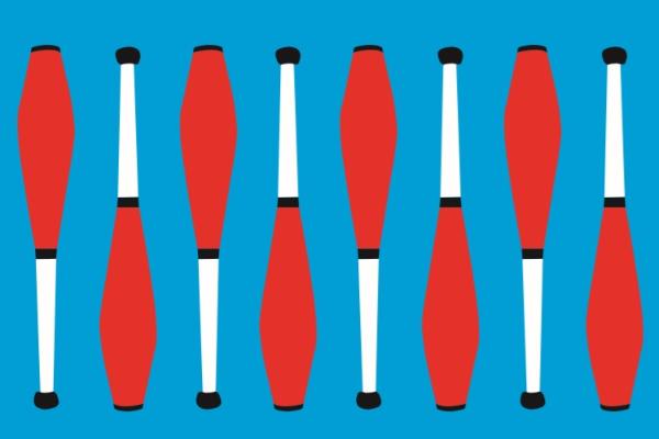 image of juggling batons