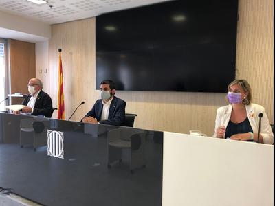 Roda de premsa d'El Hormani, Bargalló i Vergés