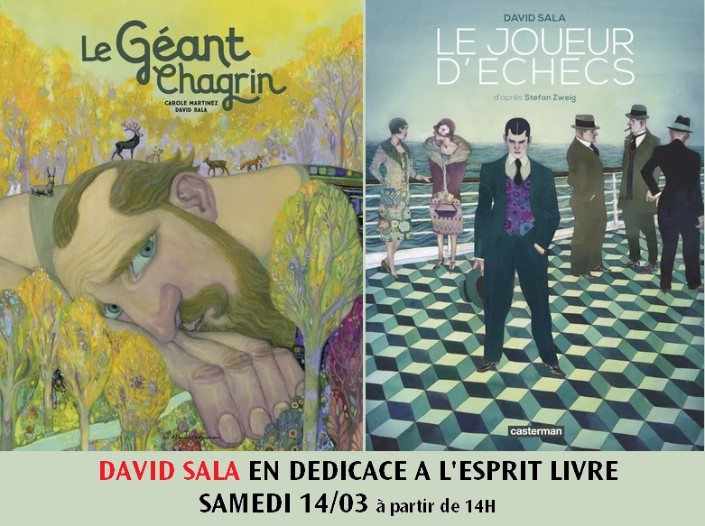 Dédicace David Sala - Le géant chagrin