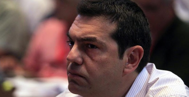 El primer ministro griego, Alexis Tsipras, asiste al Comité Central de Syriza celebrado en Atenas (Grecia).- Orestis Panagiotou (EFE)