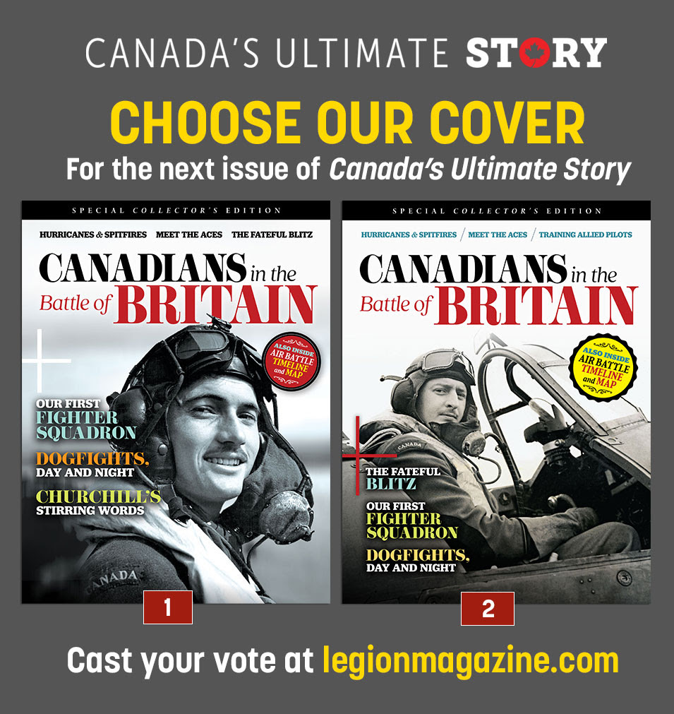 Choose our cover for the next issue of Canada's Ultimate Story