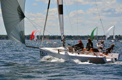 J/70 sailing fast with Brandon Flack and family