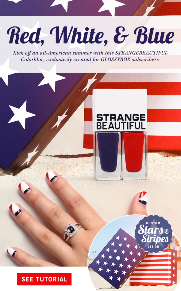Kick off an all-American summer with this STRANGEBEAUTIFUL Colorbloc, exclusively created for GLOSSYBOX subscribers.