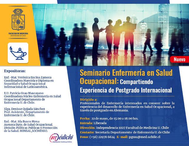 Seminario Enfermería en Salud Ocupacional: Compartiendo Experiencia de Postgrado Internacional