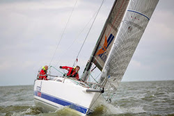 J/111 Xcentric Ripper sailing North Sea Race