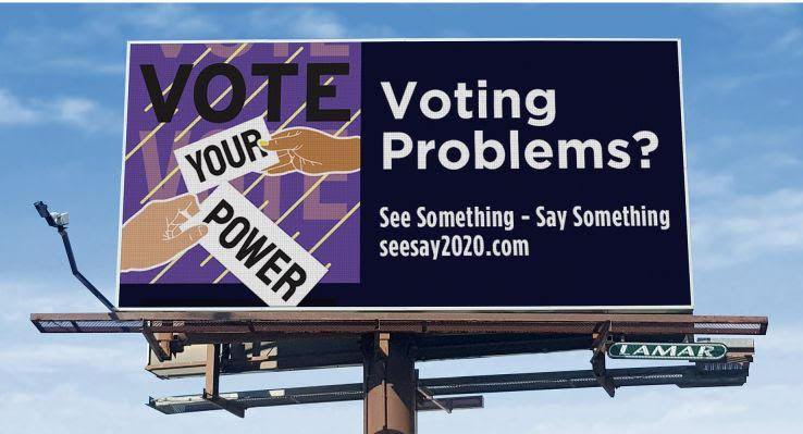 See Say 2020 billboard in South Carolina