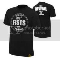 The Revival No Flips Just Fists Authentic T-Shirt