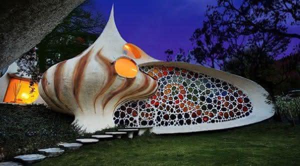 casa em uma concha gigante 1