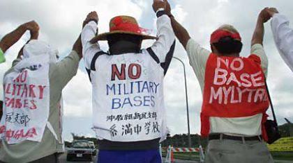 Protestas contra bases militares de USA en Okinawa, Japón