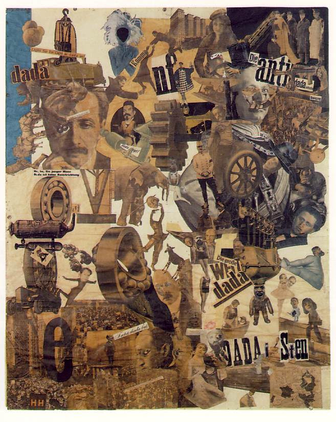 Hannah Hoch,  Cut with the Kitchen Knife Dada through the Last Weimar-Beer  Belly of the Cultural Epoch of Germany, 1919