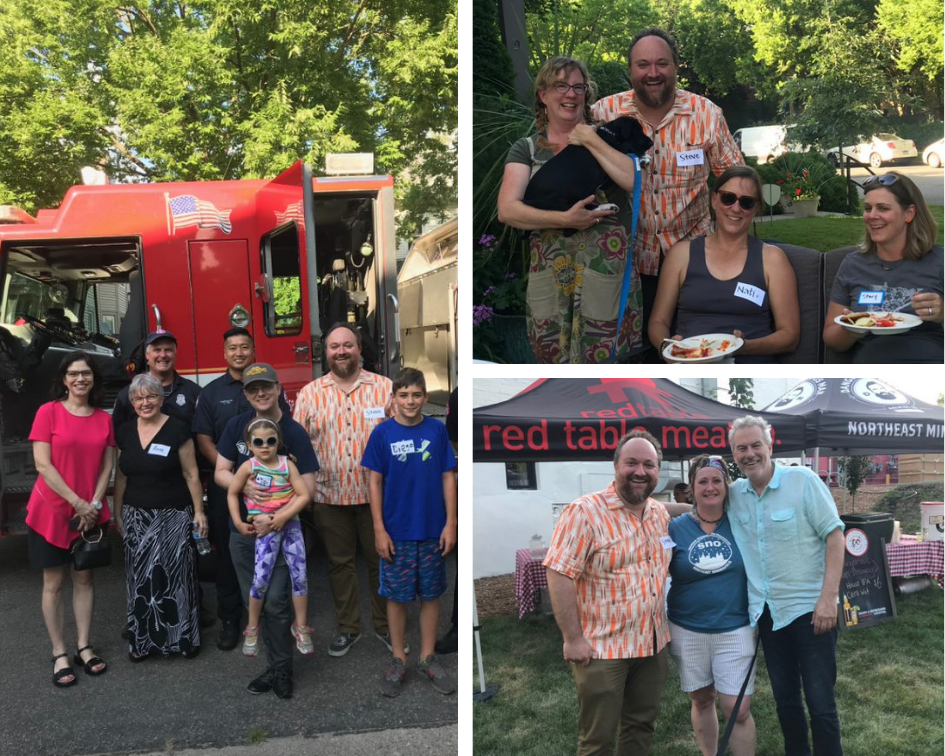 Collage of CM Fletcher at National Night Out events
