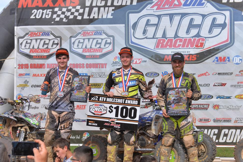 XC2 Podium: (left) Cody Collier, Cole Richardson, (right) Martin Christofferson Photo: Ken Hill