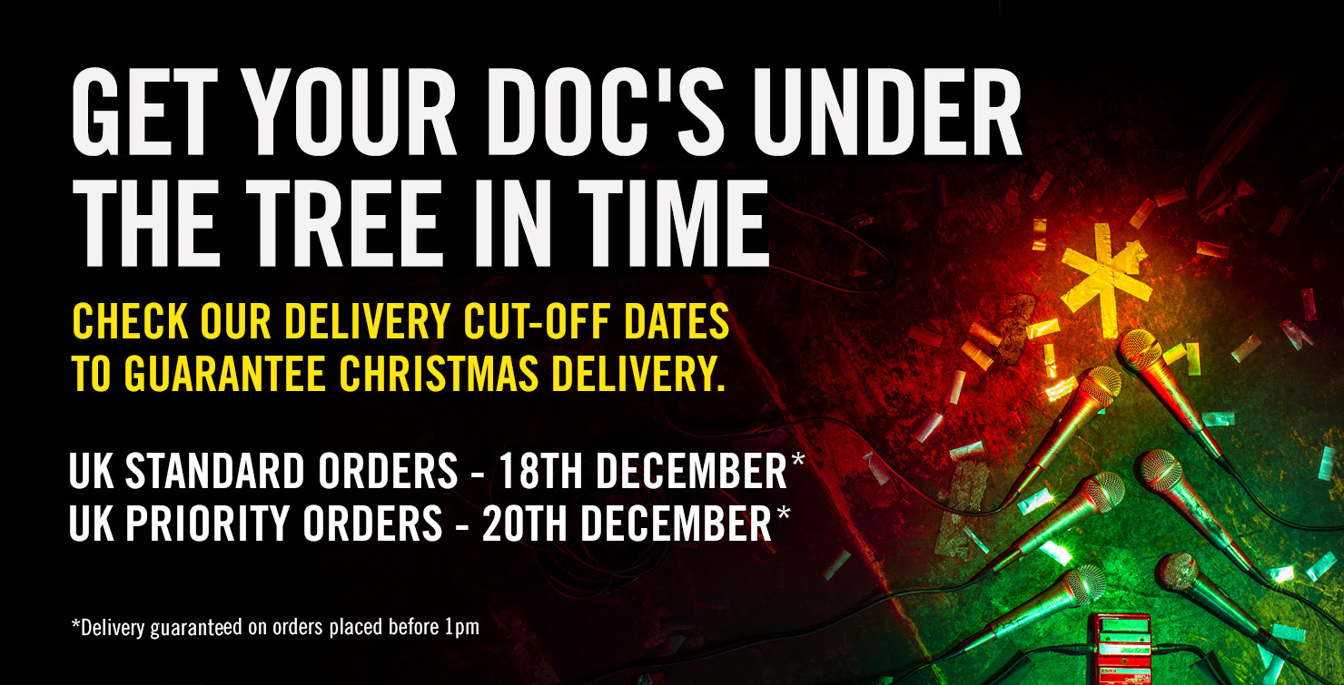 GET YOUR DOC'S UNDER THE TREE IN TIME - Check our delivery cut-off dates to guarantee Christmas delivery - UK Standard orders - 18th December, UK Priority orders - 20th December, *Delivery guaranteed on orders placed before 1pm