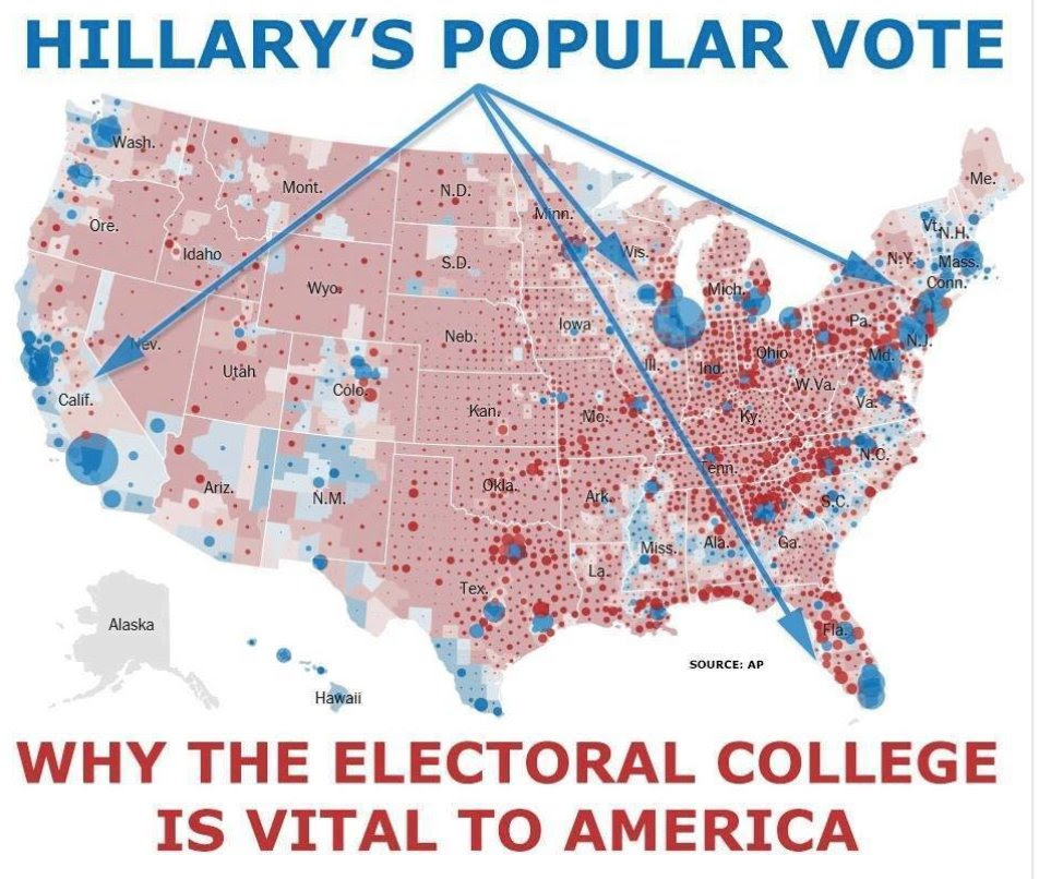 Map showing Importance of Electoral College