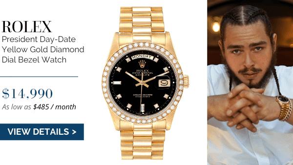 President Day-Date Yellow Gold Black Diamond Dial