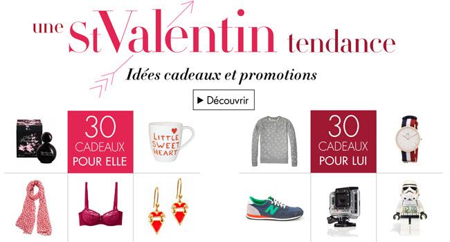 Nos idées cadeaux et promotions pour la saint Valentin