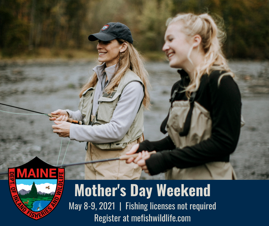 Mother's Day free fishing license weekend May 8-9