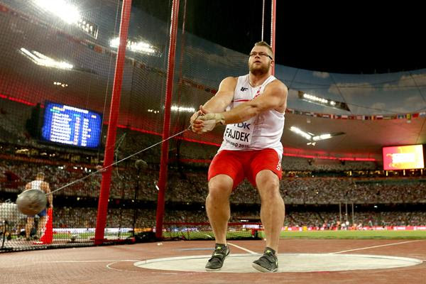 Poland's Pawel Fajdek competes in the men's hammer final during day two of the IAAF World Championships, Beijing 2015 at Beijing National Stadium on August 23, 2015  (Getty Images)