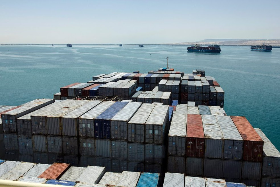 Navio de conteineres da Maersk: companhia alerta para desaceleracao mais rapida do que o esperado -- Foto: Kristian Helgesen/Bloomberg