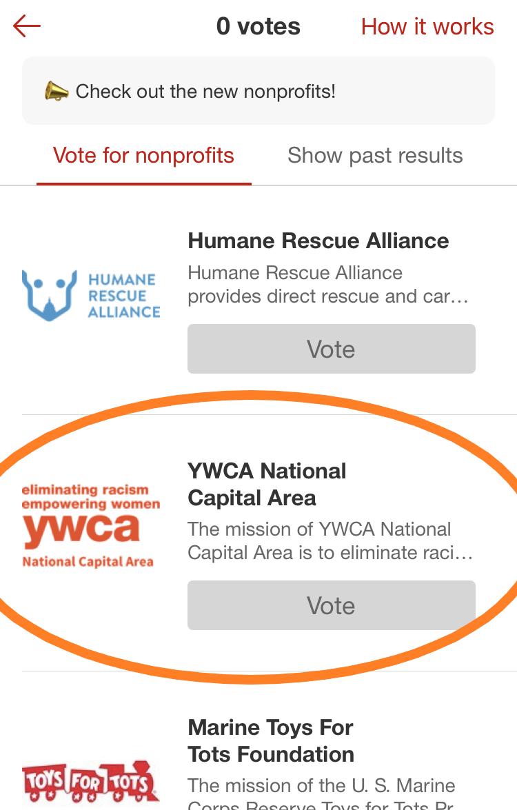 Target Circle YWCA Voting