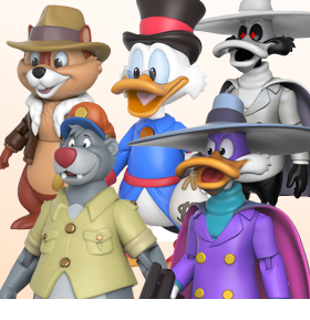 "THE DISNEY AFTERNOON COLLECTION 3.75"" ACTION FIGURES"