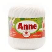 Linha Anne 500 para Crochê e Tricô Branca