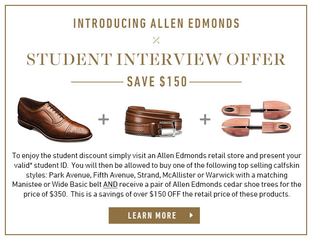 Introducing Allen Edmonds Student Interview Offer