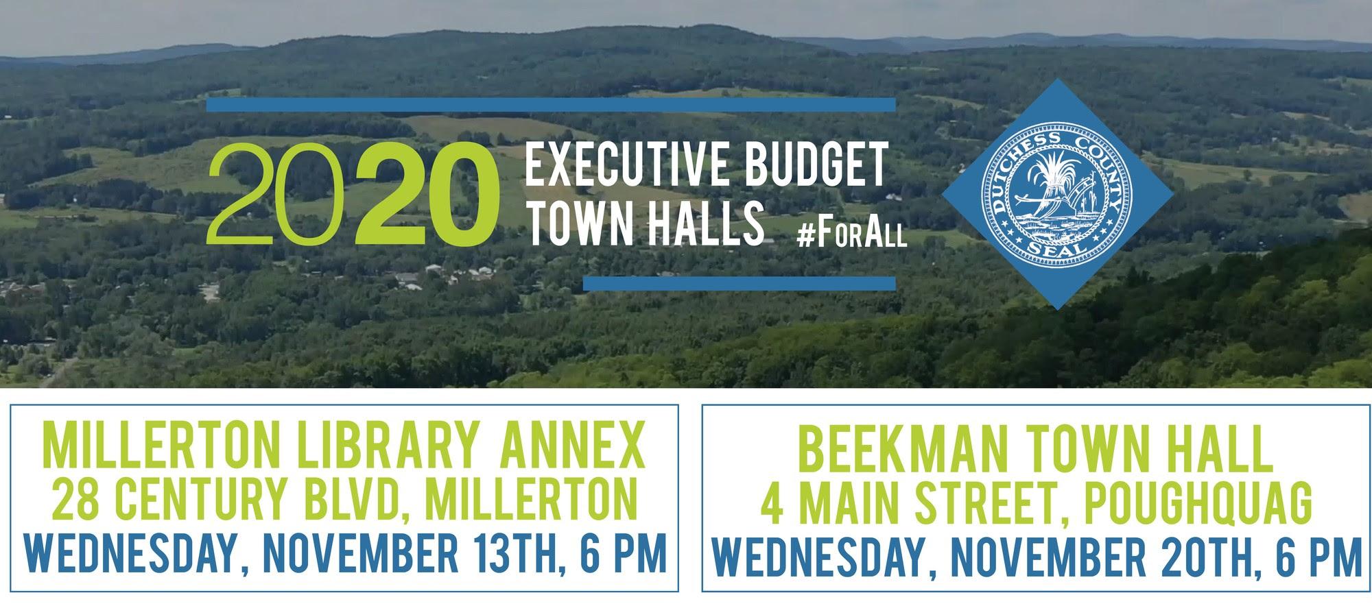 2020 Budget Town Halls information