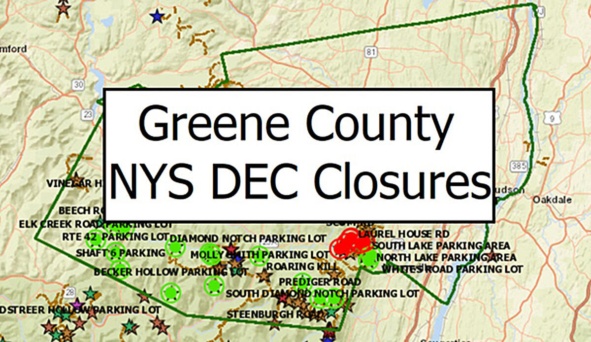 DEC Closures Map
