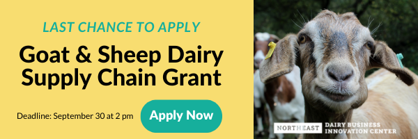 Goat and Sheep Dairy Supply Chain Grant