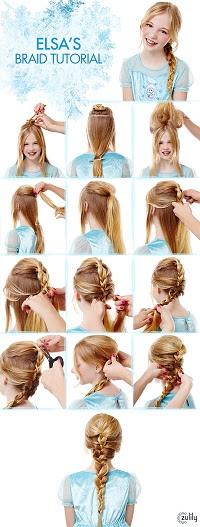 Elsa's Braid Tutorial - My Kids LOVE Frozen, Do Yours? - www.MePlus3Today.com #zulily