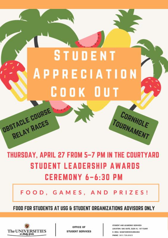 Student Appreciation Cook-out