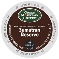 Green Mountain Sumatran Reserve Organic K-Cup pods