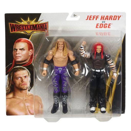Image of WWE Wrestlemania 2 Pack - Jeff Hardy vs. Edge Action Figures